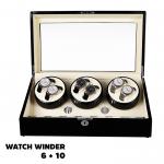 กล่องหมุนนาฬิกา AUTOMATIC WATCH WINDER BLACK2 กล่องใส่นาฬิกา 6 x 10 เรือน