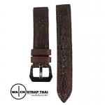 สายนาฬิกาหนังจระเข้แท้ Genuine Crocodile Leather Watch Strap Dark Brown 01 ขนาด 20 mm ,22mm,24mm