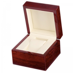 กล่องไม้ใส่นาฬิกา 1 เรือน สีนำ้ตาล กล่องเก็บนาฬิกาความจุ 1 เรือน watch box กล่องนาฬิกาไม้