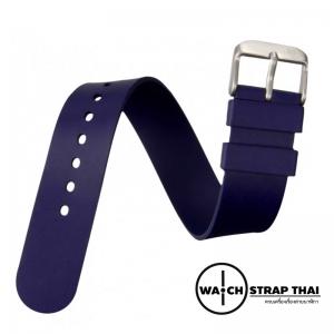 สายนาฬิกายางนาโต้ Nato Ruber Watch Strap Blue สายนาฬิกายางนาโต้สีน้ำเงิน มีขนาด 20,22 mm