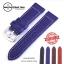 สายนาฬิกา สายนาฬิกาหนังวัว SET06 Leather Strap สีน้ำเงิน Blue Leather Watch Strap 20,22 mm