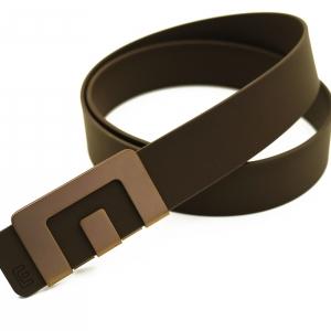 เข็มขัด MIN Belt หัวทองแดง - สายน้ำตาล
