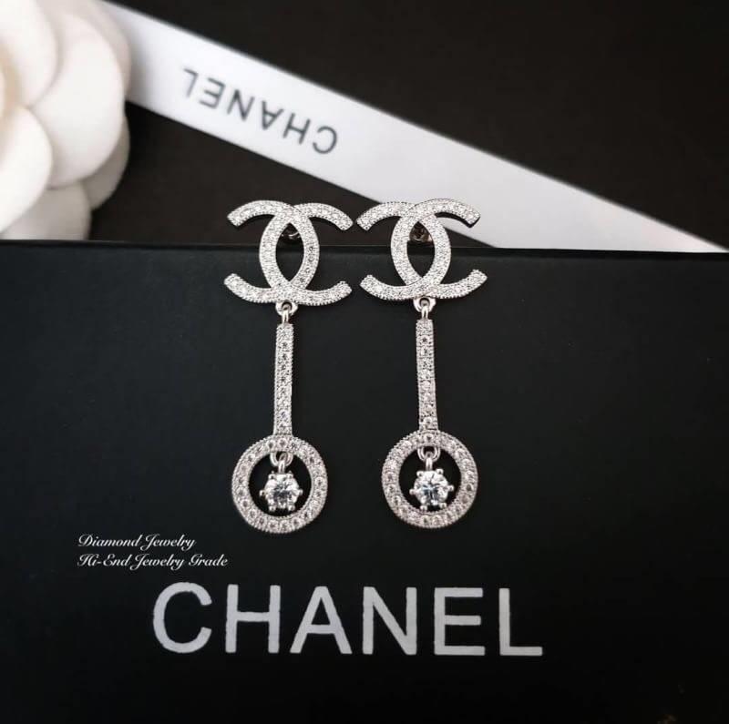 Chanel งานสวยเริ่ดที่สุดดดด สวยวิ้งระยิบระยับ เพชรเต็มฟลอร์ Diamond ดีไซส์โมเดิน ต่างหูเพชรชาแนลงานเกรดไฮเอนค่ะ Earring